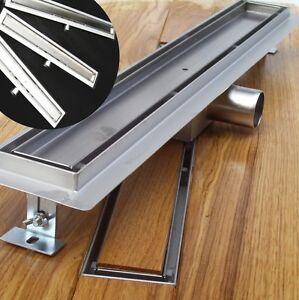 edelstahl duschrinne bodenablauf ablaufrinne duschablauf boden ablauf rinne neu ebay. Black Bedroom Furniture Sets. Home Design Ideas