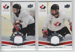 2014-15-UD-CANADA-JUNIORS-ROLAND-McKEOWN-GAME-JERSEY-176-GAME-USED-Upper-Deck