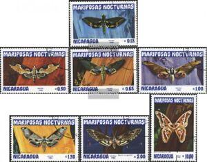 Nicaragua-2376-2382-edicion-completa-usado-1983-Mariposas