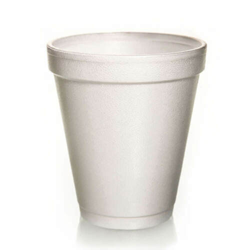 500 Foam Cups Polystyrene Coffee Styrofoam Disposable Cup Insulated 8oz Tea NEW