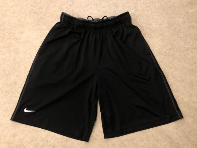 Men's Nike Dri-Fit Shorts Basketball Running Training Sz L- Black