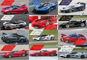 Bien Calcas Ferrari Laferrari Fxx K 1:32 1:43 1:24 1:18 Slot Decals