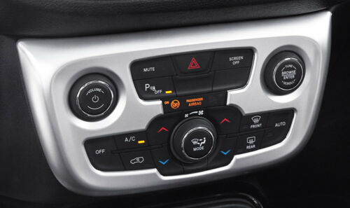 For Jeep Compass 2017-2019 matte Interior Air Conditioning Button Switch Cover