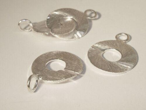Ring Verschluss 42mm gebürstet Silber #1015
