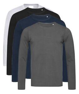 Stedman Comfort Plain Cotton Mens Crew Neck Tee Shirt T-Shirt