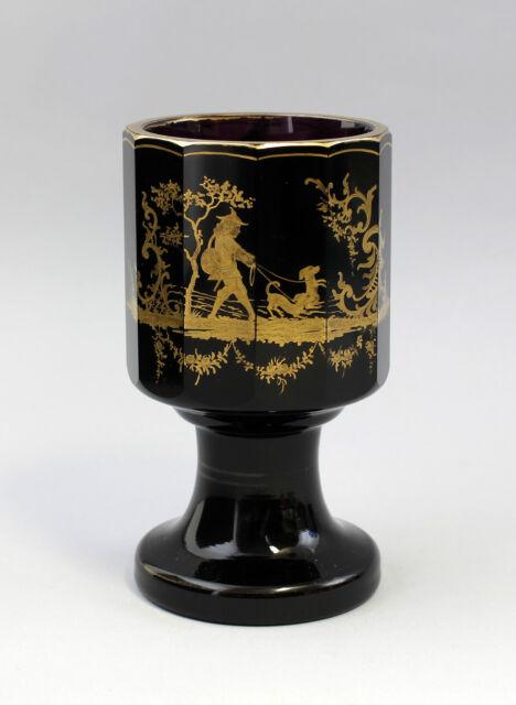 Pokal-Glas Historismus um 1900 feine Goldmalerei 7835112
