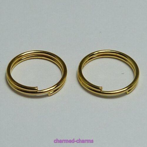 4-10mm Gold Plated Alloy Split Rings Double Loop Jump Rings 21 22 Gauge Findings