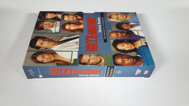 dvd Cofanetto GREY'S ANATOMY Stagione 3 terza Contiene 7 dischi