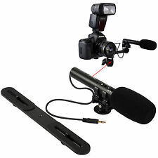 Pro Stereo Mikrophone Mikrofon Microphone Blitzschiene fr Kamera Video Camcorder