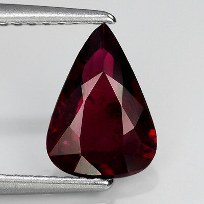 CERTIFIED 1.21ct Pear UNHEATED NATURAL Red RUBY GEM, MADAGASCAR [cVDO] #296807