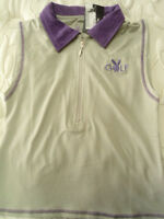 Womens Size Small Playboy Golf Gray & Purple Short Shirt Cute