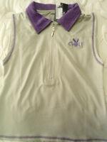 Womens Size Small Playboy Golf Gray & Purple Short Shirt Cute