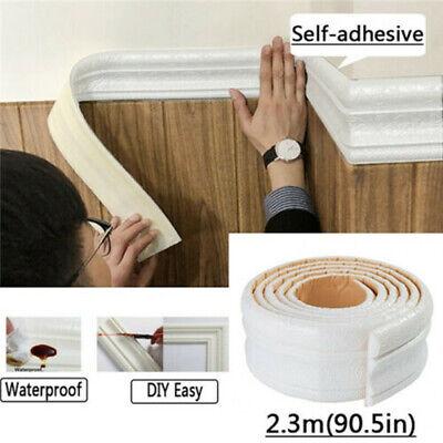 Huilai Wallpaper Border 3D Self Adhesive Border Wall Stickers Waterproof Self-Adhesive Wallpaper Border Mirror Borders Wall Decor For Kitchen Bathroom