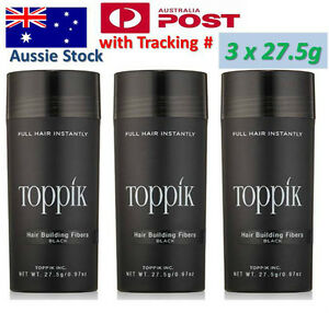 3x-TOPPIK-PACK-Hair-Loss-Building-Fibers-82-5g-Conceals-Thinning-to-Bald-Hair