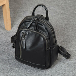 Women-039-s-Soft-Real-Leather-Small-Backpack-Rucksack-Daypack-Travel-bag-Purse-Bag