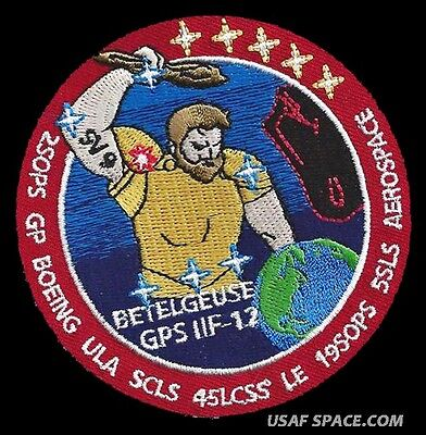 GPS IIF 12 LCSS Mission BOEING ULA 5SLS 2SOPS USAF DOD SATELLITE SPACE PATCH