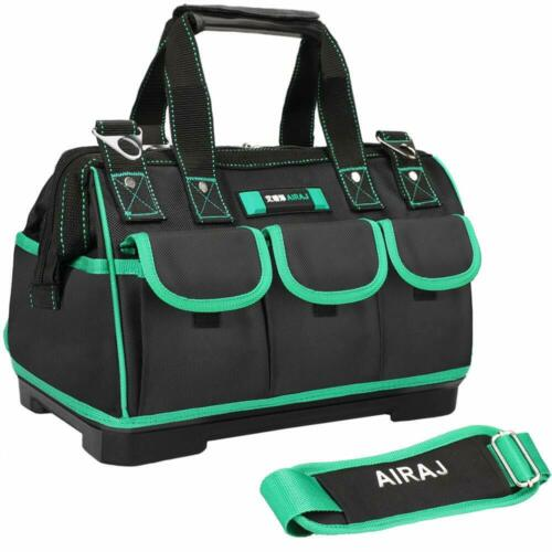 AIRAJ 18-in Tool Tote Bag with StrapSuitable for Electrician Woodworking Wate...