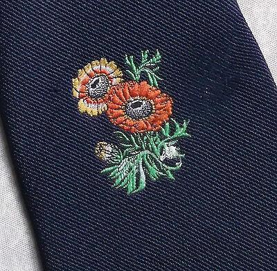 Disciplinato Vintage Cravatta Da Uomo Cravatta Crested Club Associazione Fiori Floreale Psichedelica-mostra Il Titolo Originale