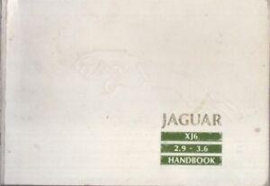 JAGUAR-DAIMLER-XJ40-2-9-amp-3-6-L-SALOON-ORIG-1990-OWNERS-INSTRUCTION-HANDBOOK