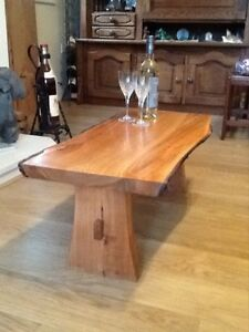 Spectacular Hand Made Live Edge Solid Cherry Wood Coffee Table