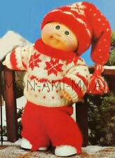 Knitting Pattern Copy CABBAGE PATCH DOLLS CLOTHES SKI OUTFIT JUMPER PANTS ETC