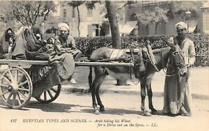 POSTCARD-EGYPT-ETHNIC-WIVES-Drive-on-the-Spee-LL-127