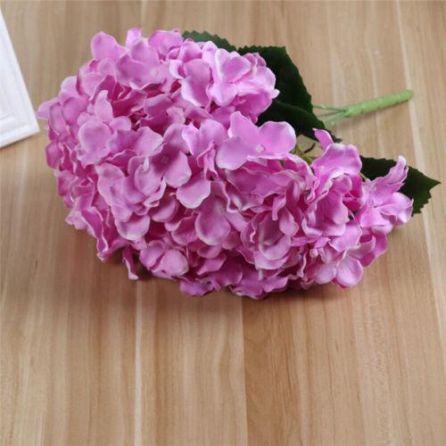 Home Garden Decor Wedding Fake Flower Party Artificial Hydrangea Bouquet 5 Heads