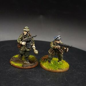 PRO PAINTED 28mm BOLT ACTION FALLSCHIRMJAGER TEDESCO (Plastica) Ufficiale & NCO Ww2