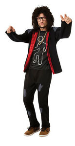 Mens-LMFAO-SKY-BLU-Party-Rock-Anthem-Costume-Hooded-Jacket-Adult-Medium-42-44
