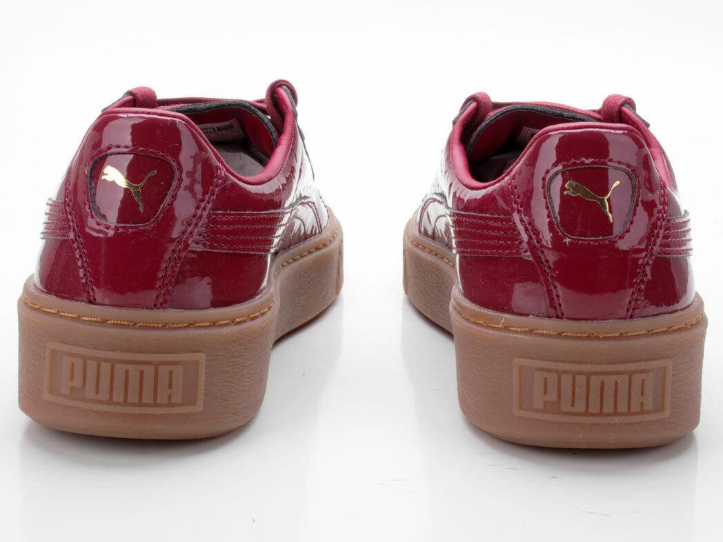 Puma Basket Platform Patent Patent Patent Wn's 363314 04 red fe3b23