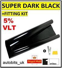 CAR WINDOW TINT FILM TINTING SUPER DARK BLACK  LIMO 5% 76cm x 6M