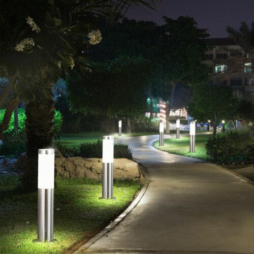 2x DEL extérieur-Lampe éclairage éclairage stand éclairage en Acier Inoxydable Jardin Cour véranda