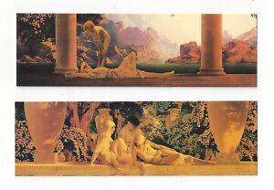 Maxfield Parrish Bookmarks Pair Garden Of Allah Daybreak