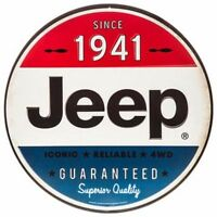 Vintage Style 1941 Jeep Metal Signs Oil Can Man Cave Garage Home Decor Dad Gift.