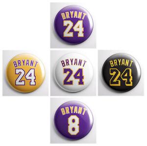 KOBE BRYANT JERSEY - LA Lakers NBA basketball player - pinback ...