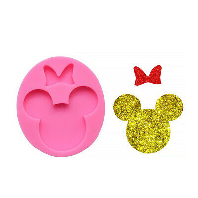 Adorable Minnie Mouse Mold Silicone Mouse With Bow Mold For Keychain 10336150