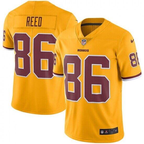 Nike Washington Redskins Football Team Jordan Reed Yellow Stitched Jersey Sz L