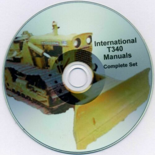 International T-340 Complete Manual Set on Searchable Cd Operator Parts Service