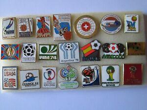 r1-lotto-21-spille-FIFA-WORLD-CUP-1930-2018-football-calcio-mondiali-pins-lot