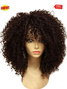 Afro-Curly-Synthetic-Medium-Short-Wigs-Full-Bang-For-Women-Coffee-Black-Hair
