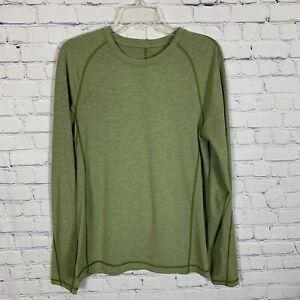 Lululemon Men's Metal Vent Tech Long Sleeve Shirt Green Size S/M