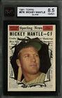 1961 TOPPS BASEBALL~#578~MICKEY MANTLE~ALL STAR~NEW YORK YANKEES~KSA 8.5 NM-MT+