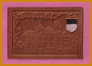 VINTAGE-1908-University-of-Missouri-Tigers-Tobacco-Leather-L41-RARE