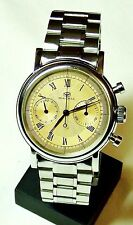 SEAGULL CHRONOGRAPH MANS MANUAL WIND 19 JEWEL VINTAGE FINISH ROMAN No. DIAL
