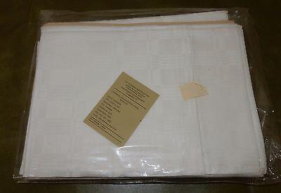 6 Teilige Weiße Bettwäsche Garnitur Manuett Baumwolle Damast 128x200 Ddr Ovp Duftendes (In) Aroma