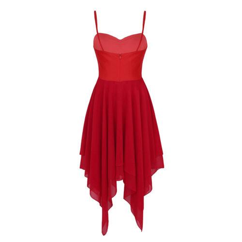 Womens Adult Sleeveless Ballroom Contemporary Ballet Lyrical Dance Dress Costume