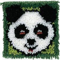 """Panda Latch Hook Rug Kit  8"""" x 8"""" Wonder Art Caron - 426178"""