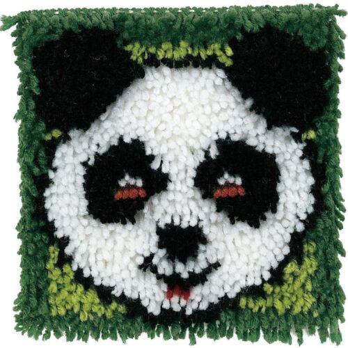 """Panda Latch Hook Rug Kit  8/"""" x 8/"""" Wonder Art Caron 426178"""