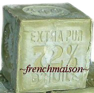 HANDMADE-Provence-Savon-de-Marseille-OLIVE-OIL-FRENCH-SOAP-400g-South-of-France