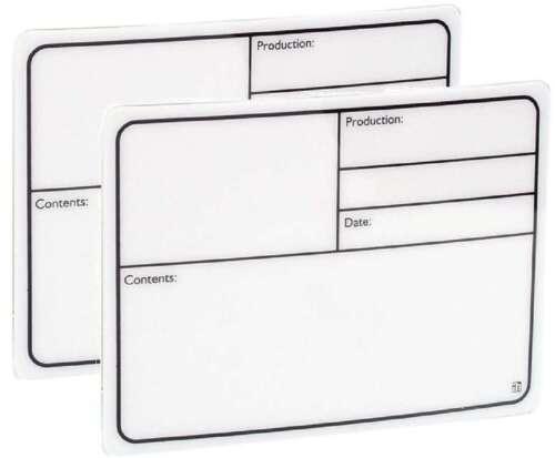 2 ADAM HALL 88000 Tour Label 130 x 85 mm selbstklebend Beschriftungsschild weiß